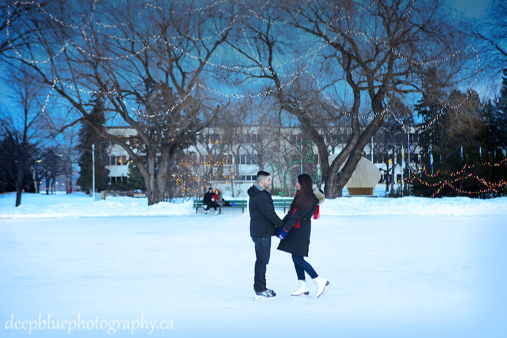 Alberta Legislature Engagement Pictures Outdoor Skating Rink