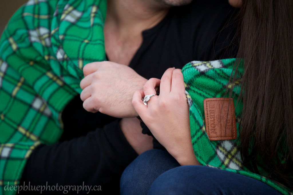 Photo of Couple with Engagement Ring