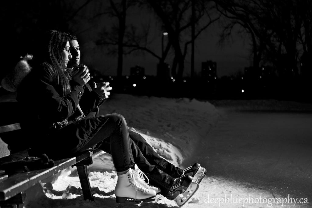 Alberta Legislature Engagement Pictures Outdoor Winter Skating