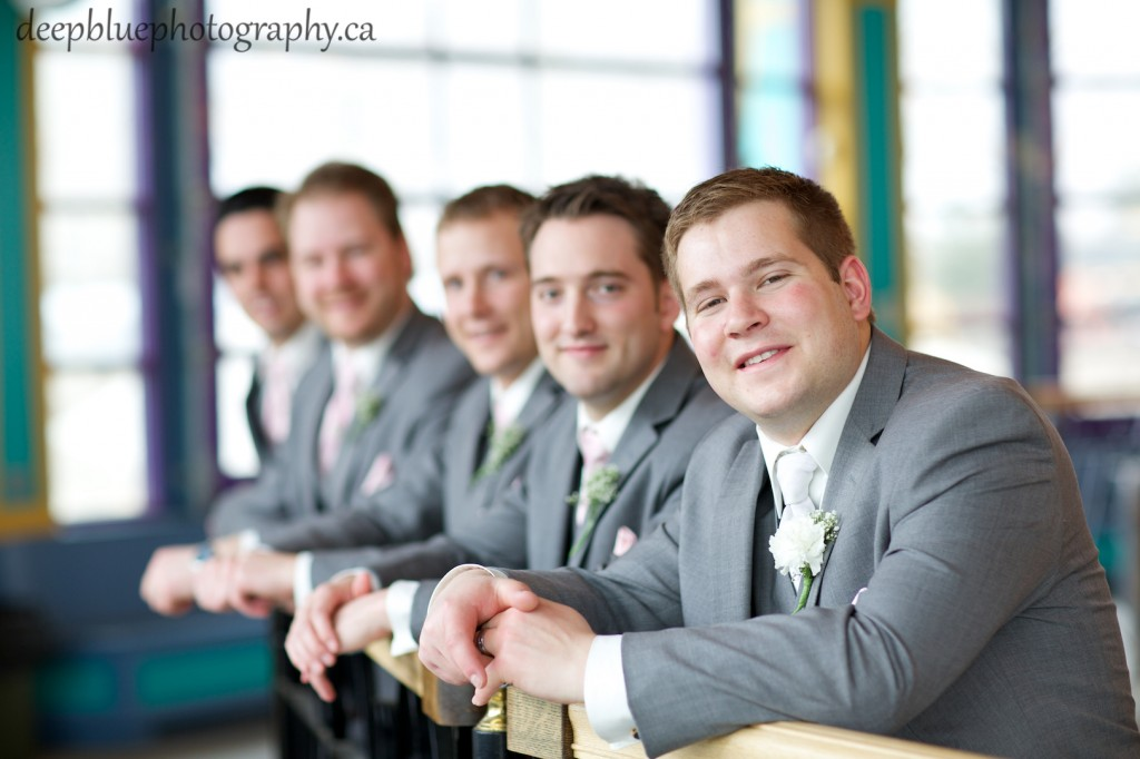 Groomsmen Portraits at Fort Edmonton Carousel