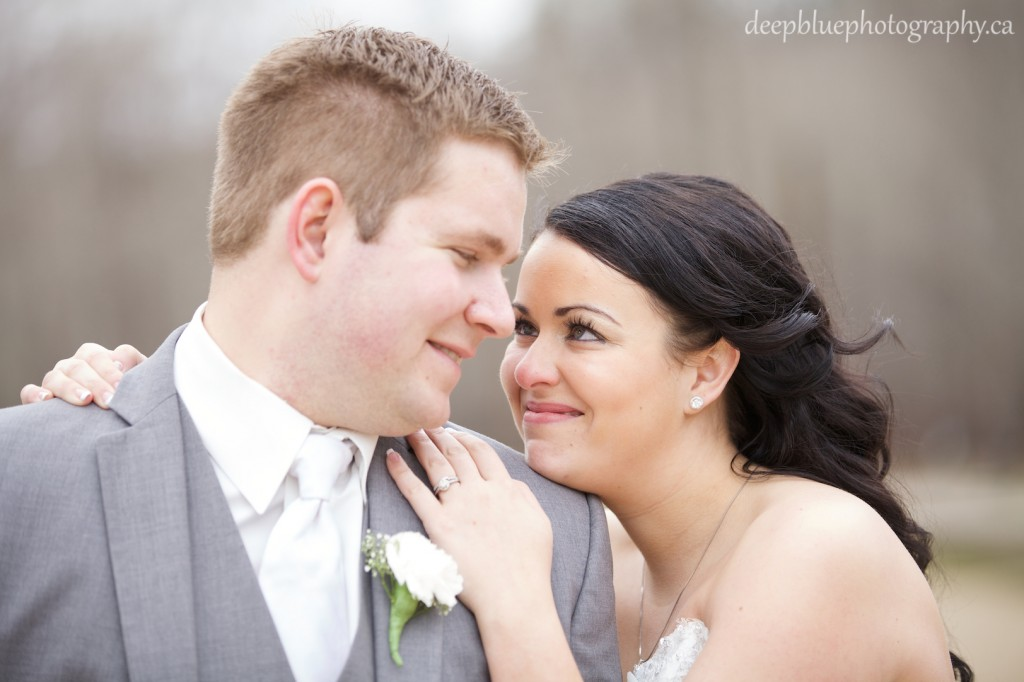 Bride and Groom Close Portrait - Fort Edmonton Park Wedding Photography
