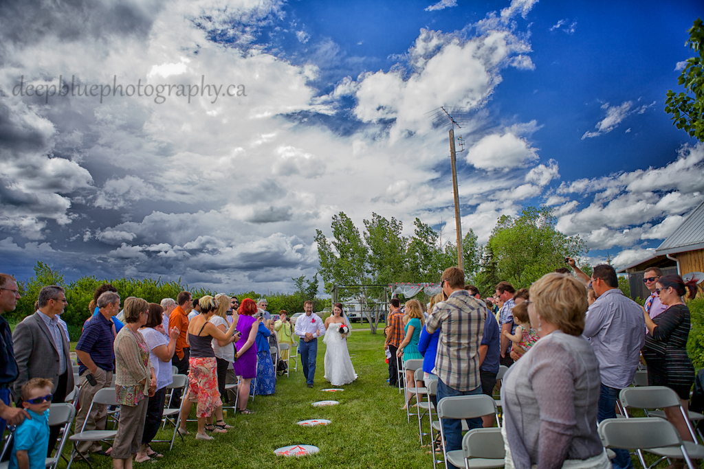 Photo of country wedding ceremony