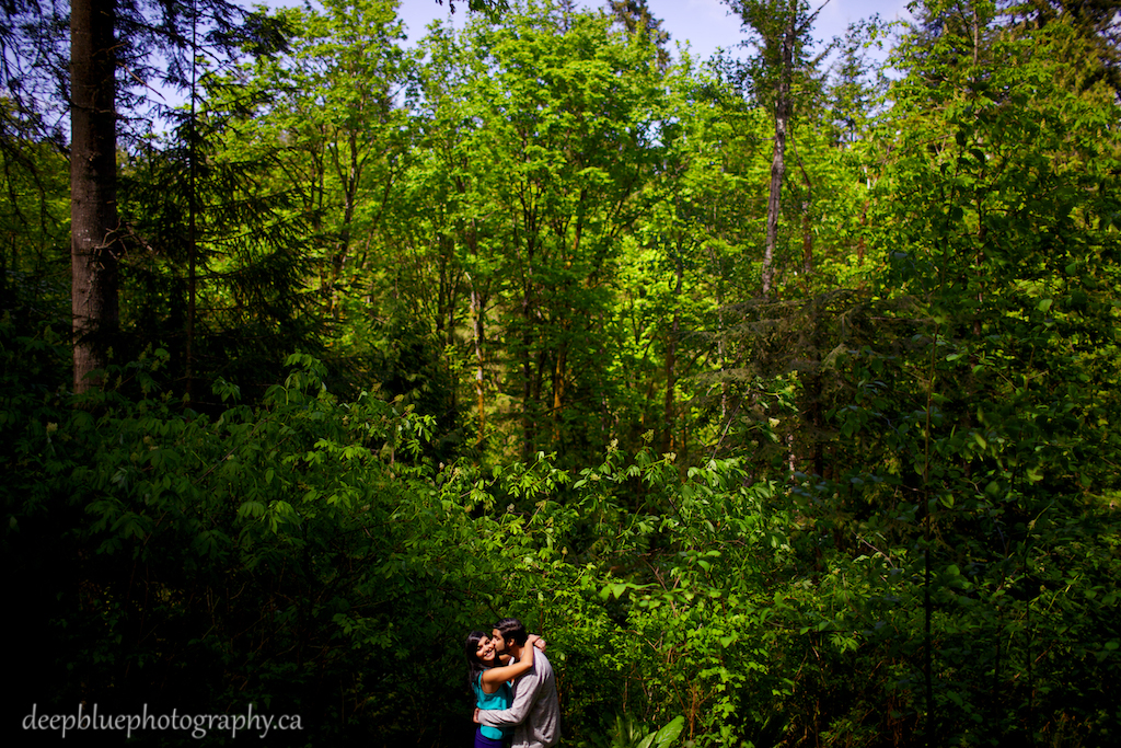 Aaron and Monica being cute during their Vancouver Island Engagement Photography Session