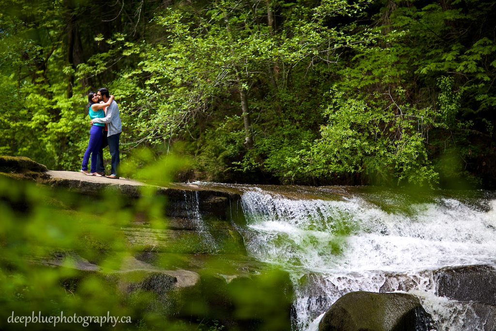 Aaron and Monica's favourite spot at Bowan Park Vancouver Island Engagement Photography
