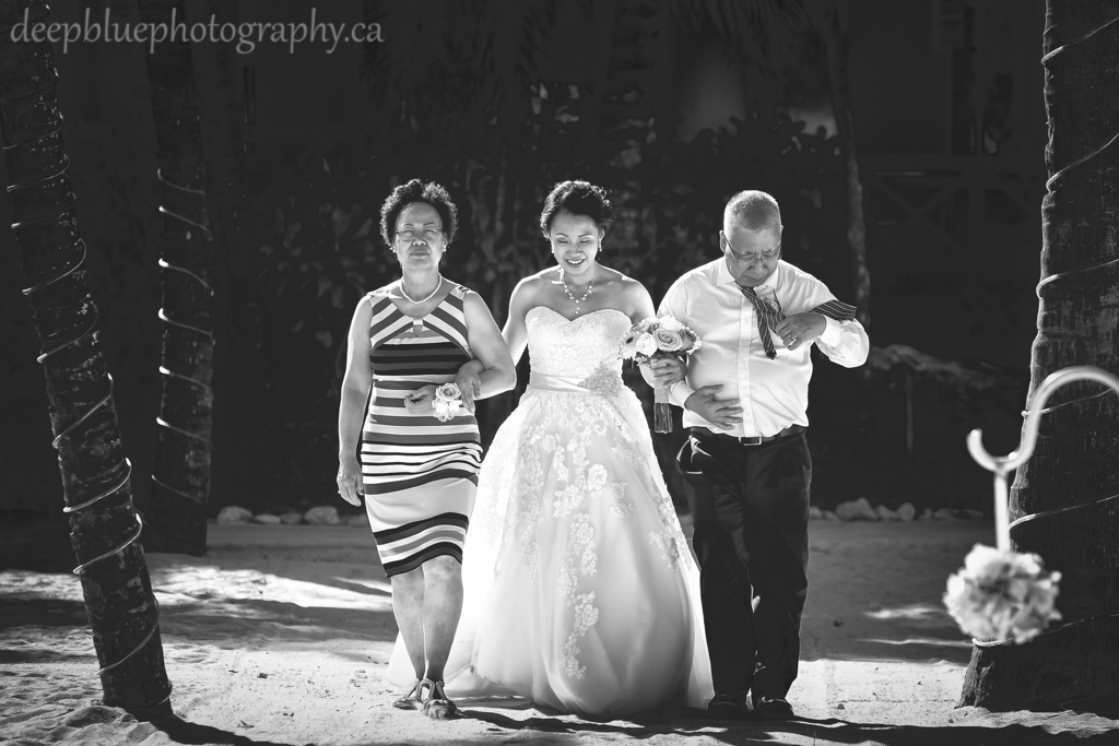 Destination wedding processional