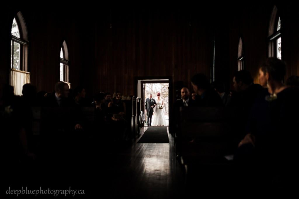 St Michaels Church Fort Edmonton Park Wedding - Winter Wedding Fort Edmonton Park