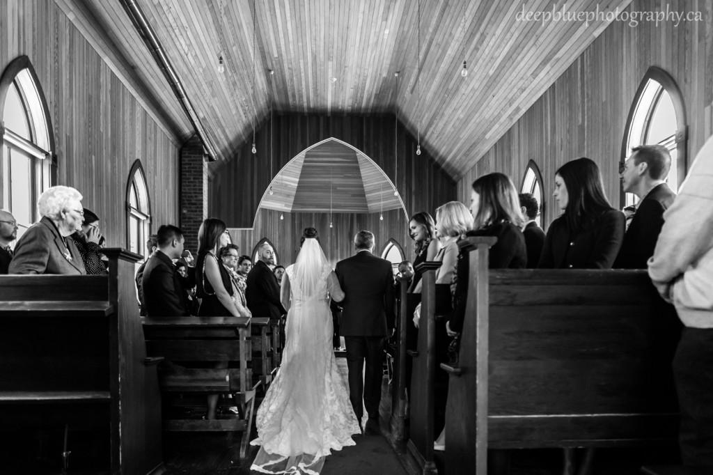 Fort Edmonton Park St Michaels Church Wedding - Winter Wedding Fort Edmonton Park