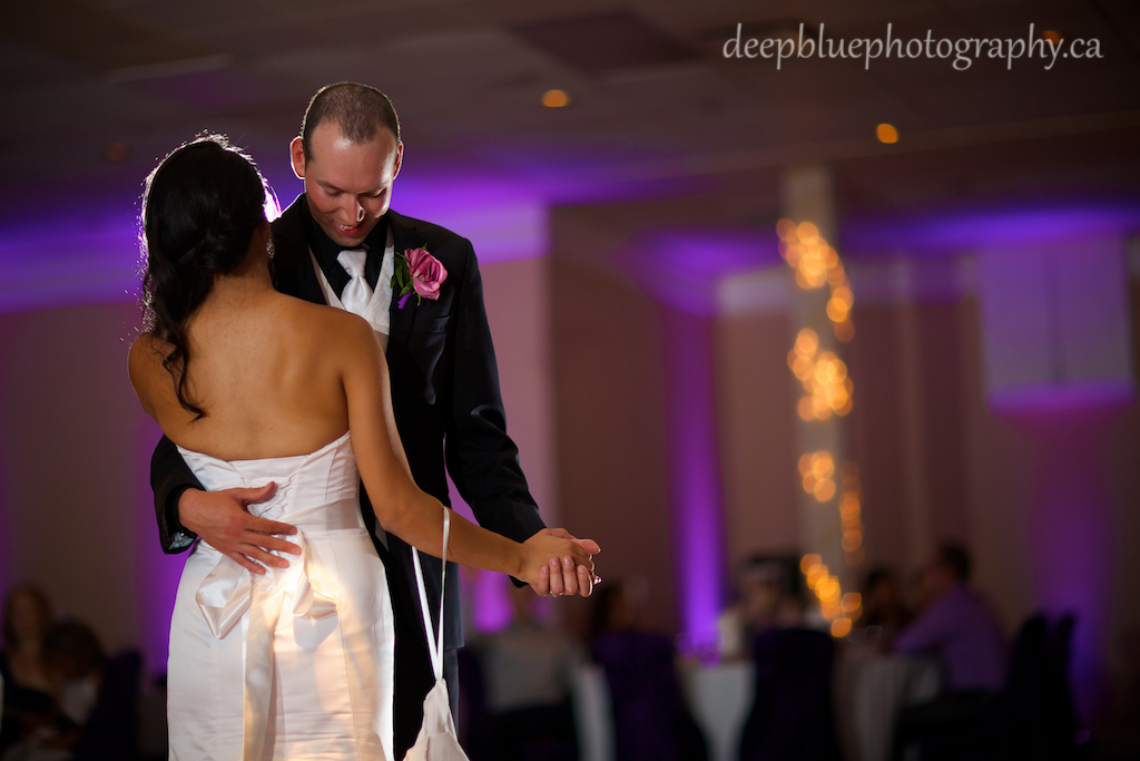 Bride and Groom First Dance Nisku Inn