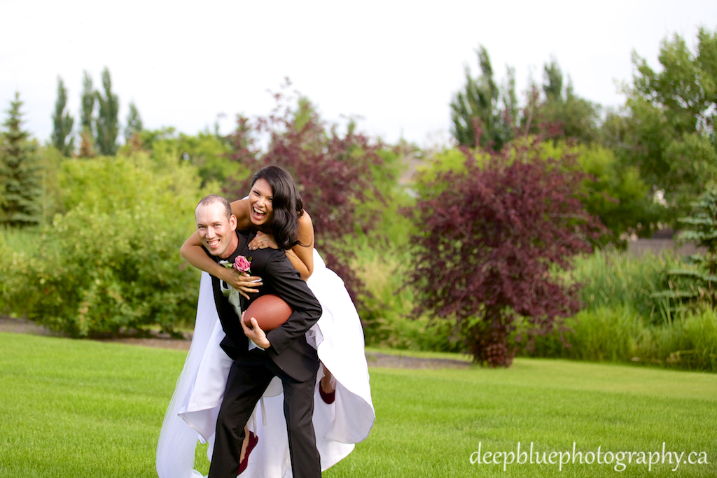 Photo of Bride and Groom at Telford Lake