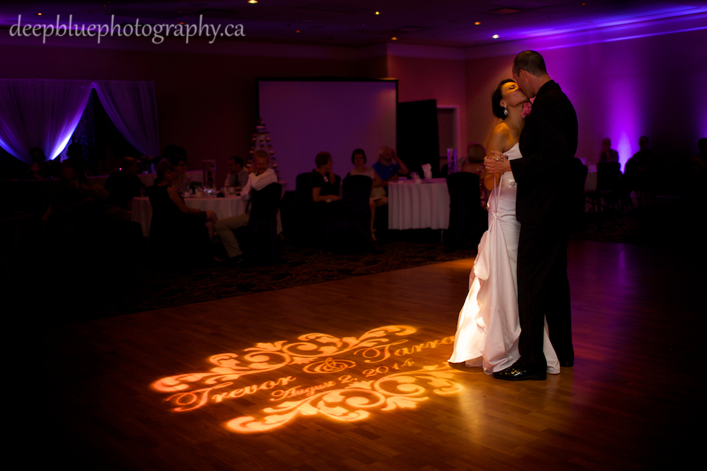 Photo of Couple Sharing First Dance at the Nisku Inn
