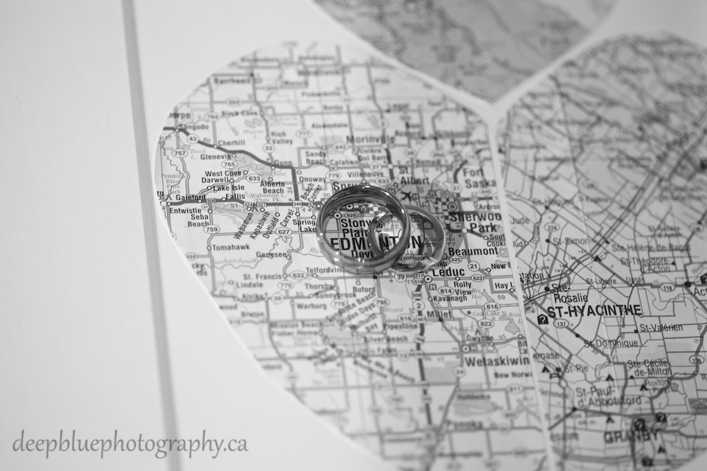 Wedding Ring Detail with Map