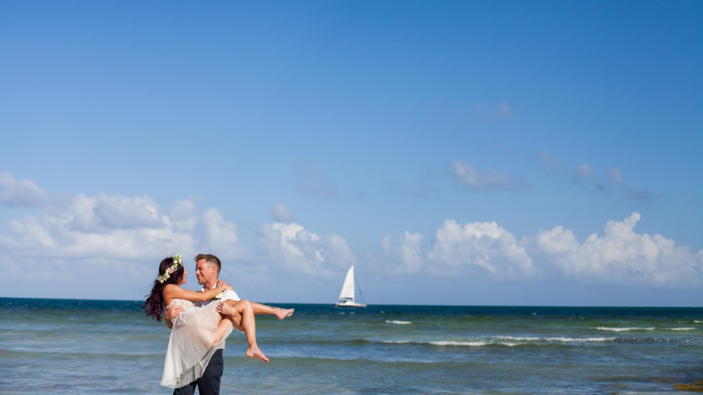 Destination Wedding Portrait on Beach