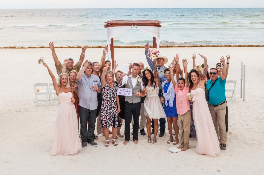 Group Photo Destination Wedding