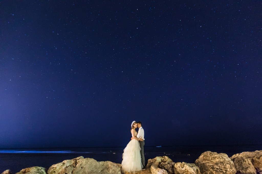 Destination Wedding Night Portraits