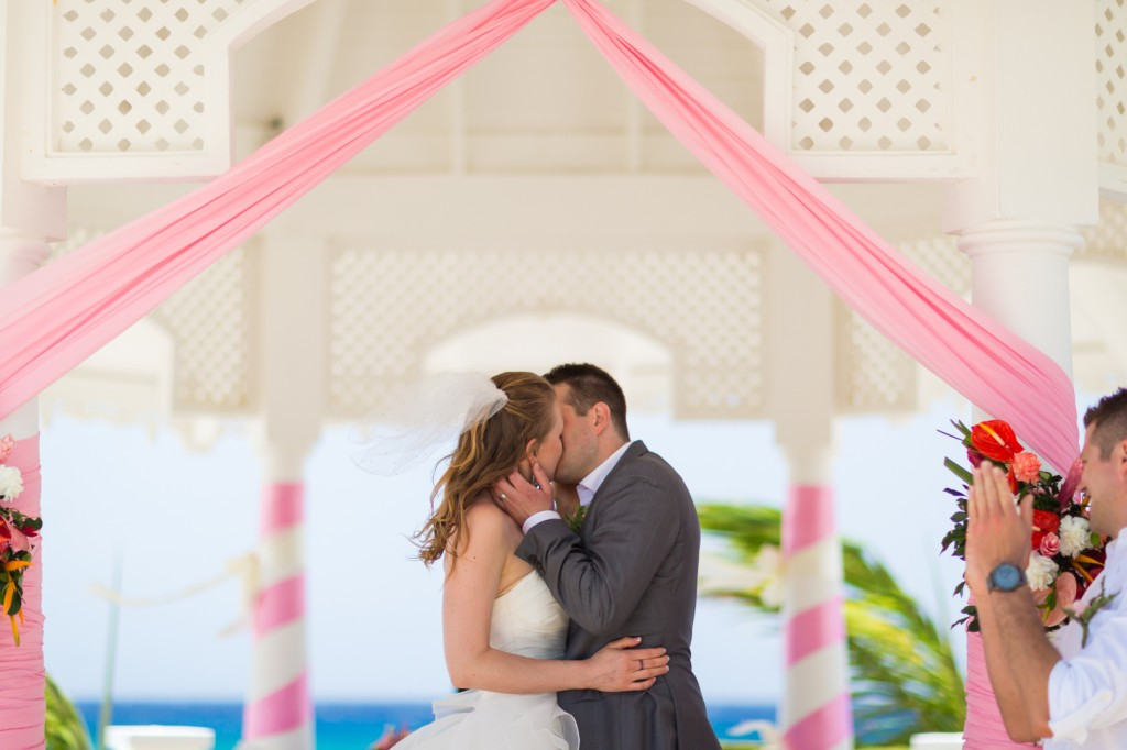 First Kiss Destination Wedding