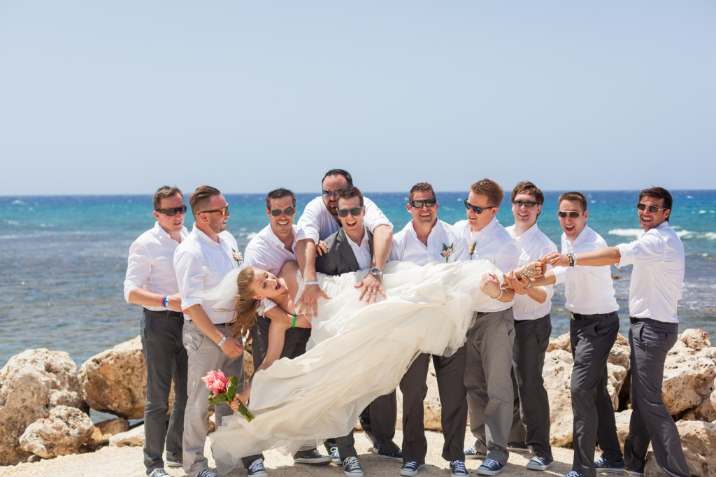 Groomsmen with Bride