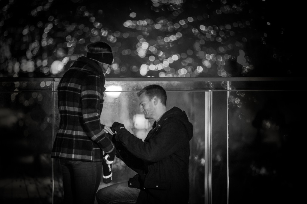 Winter Proposal Edmonton - A Surprise Proposal - She Said Yes!