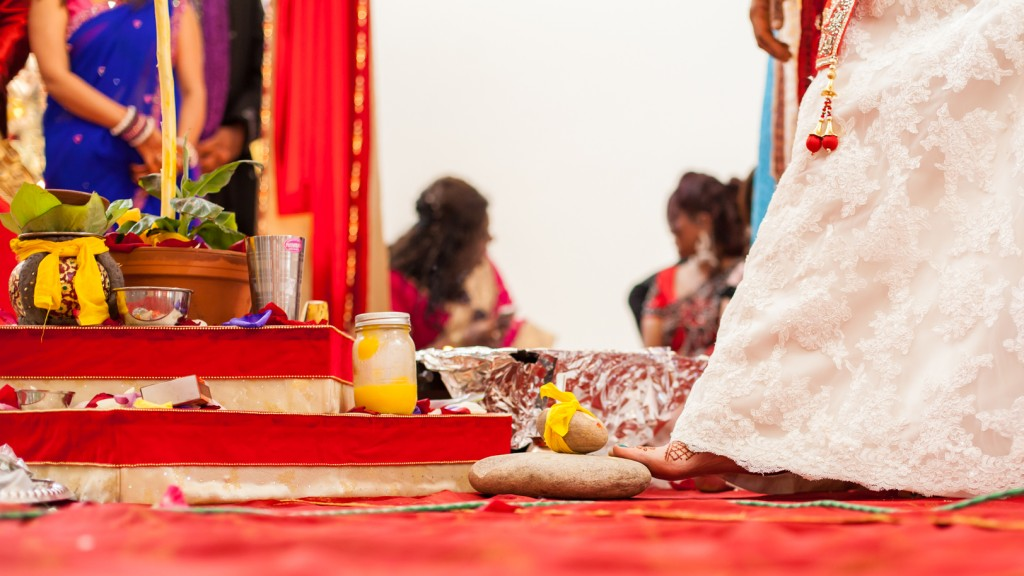 Deep Blue Hindu Wedding