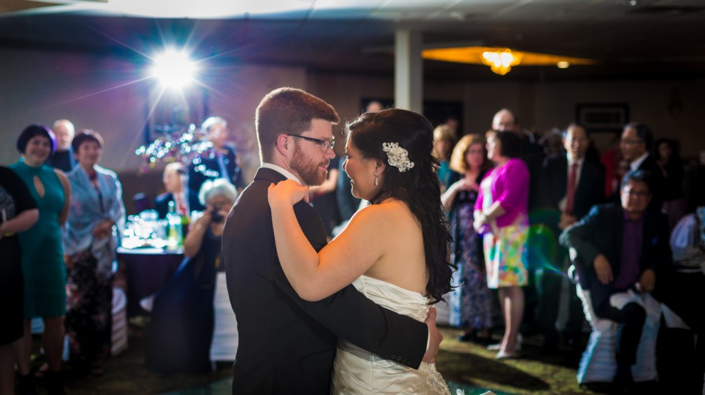 Dramatic Colour Photo of First Dance