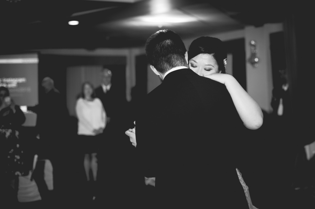 High Contrast Black and White First Dance