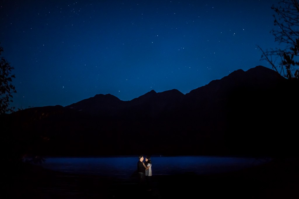 Jasper Engagement Pictures at Night