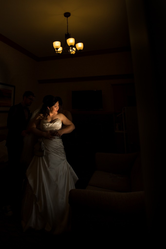 Edmonton Deep Blue Wedding Photography