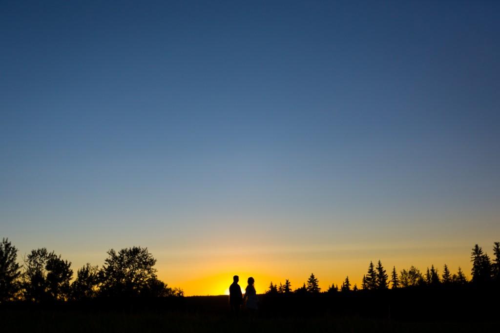 Sunset Prairie Engagement Photos