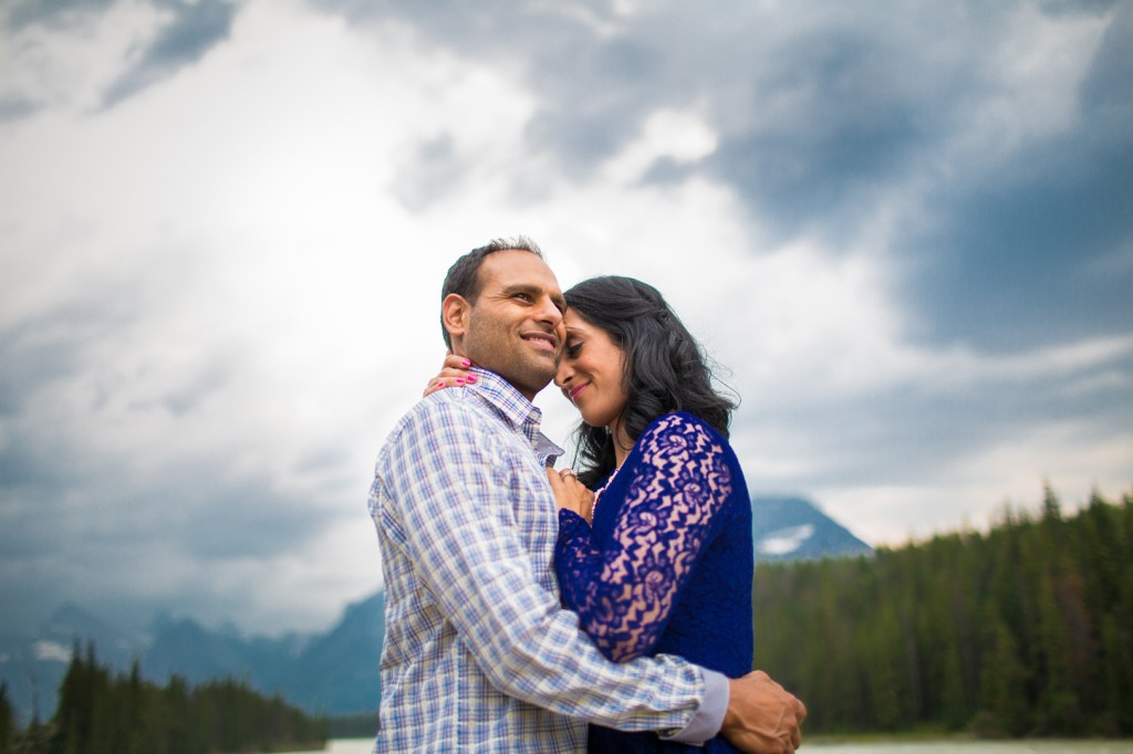 Jasper Engagement Photos At The Athabasca River