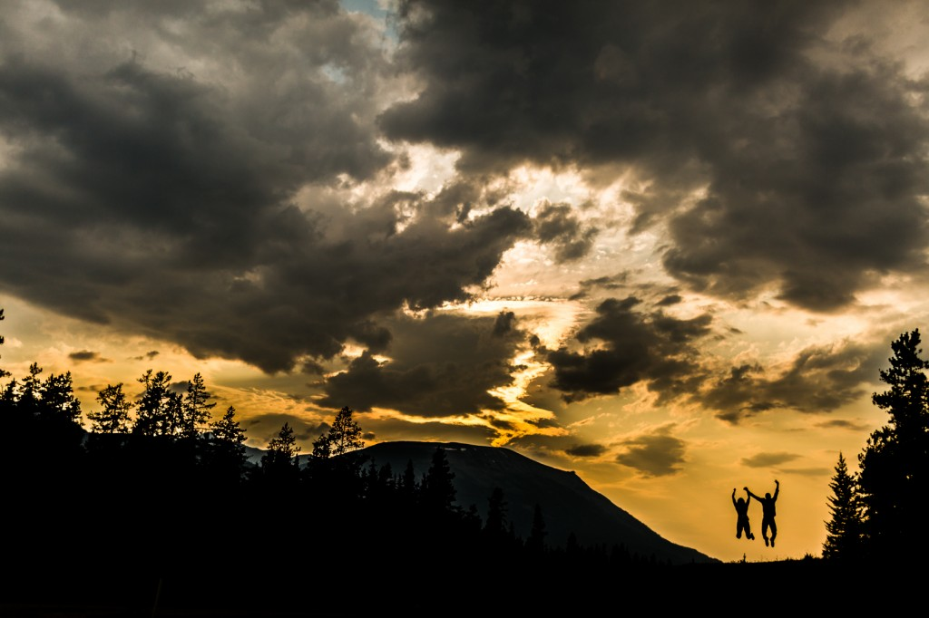 Jasper Engagement Session Sunset Icefields Parkway