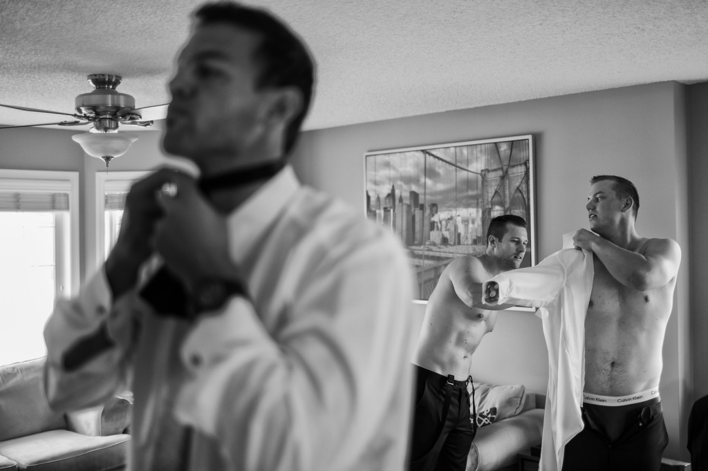Photo of Groom Getting Ready