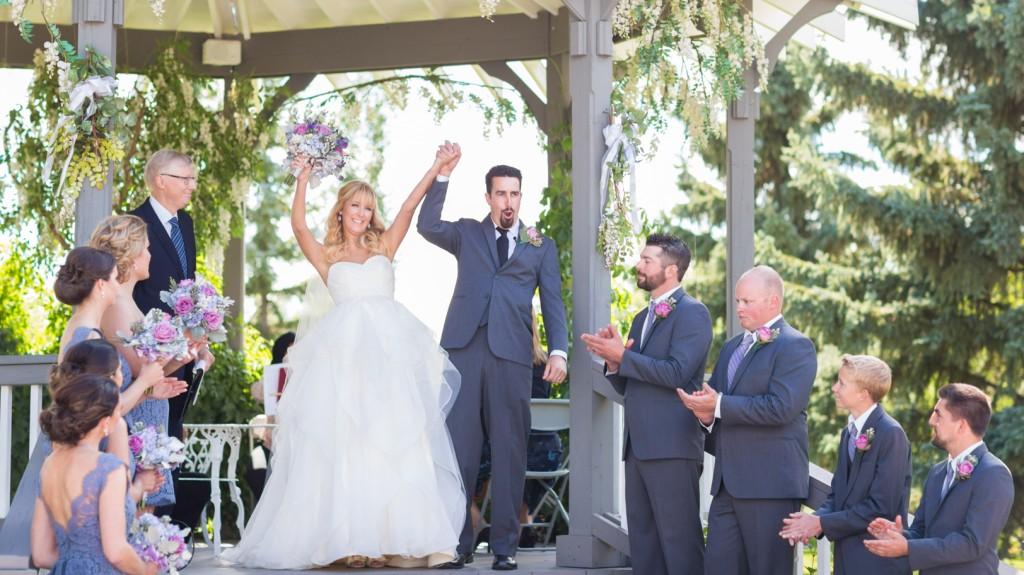 Hastings Lake Wedding Ceremony in Summer