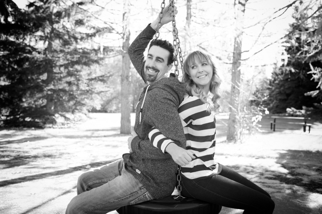 Engagement Photos at Playground