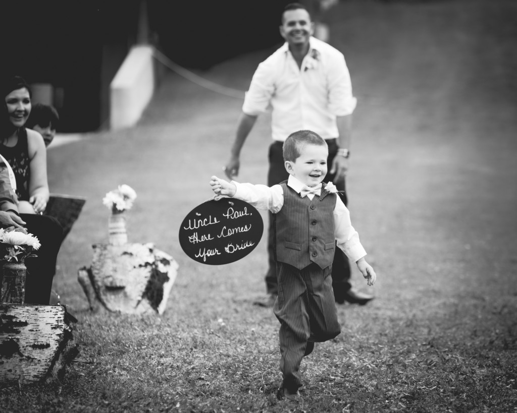 Snow Valley Wedding Ceremony Picture Of Ring Bearer
