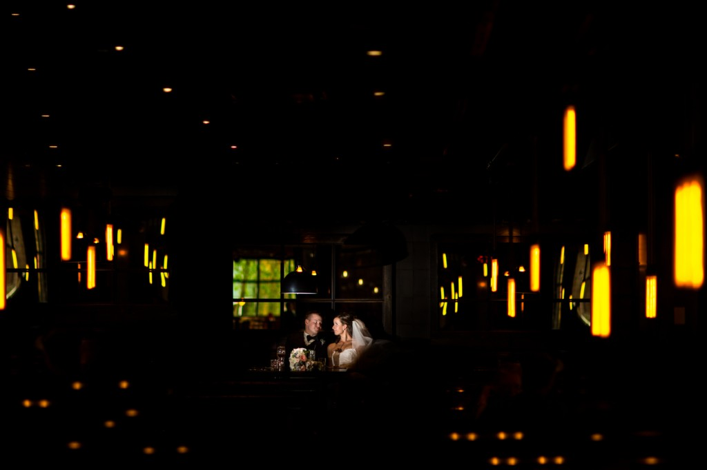 Wedding Portraits in Pub