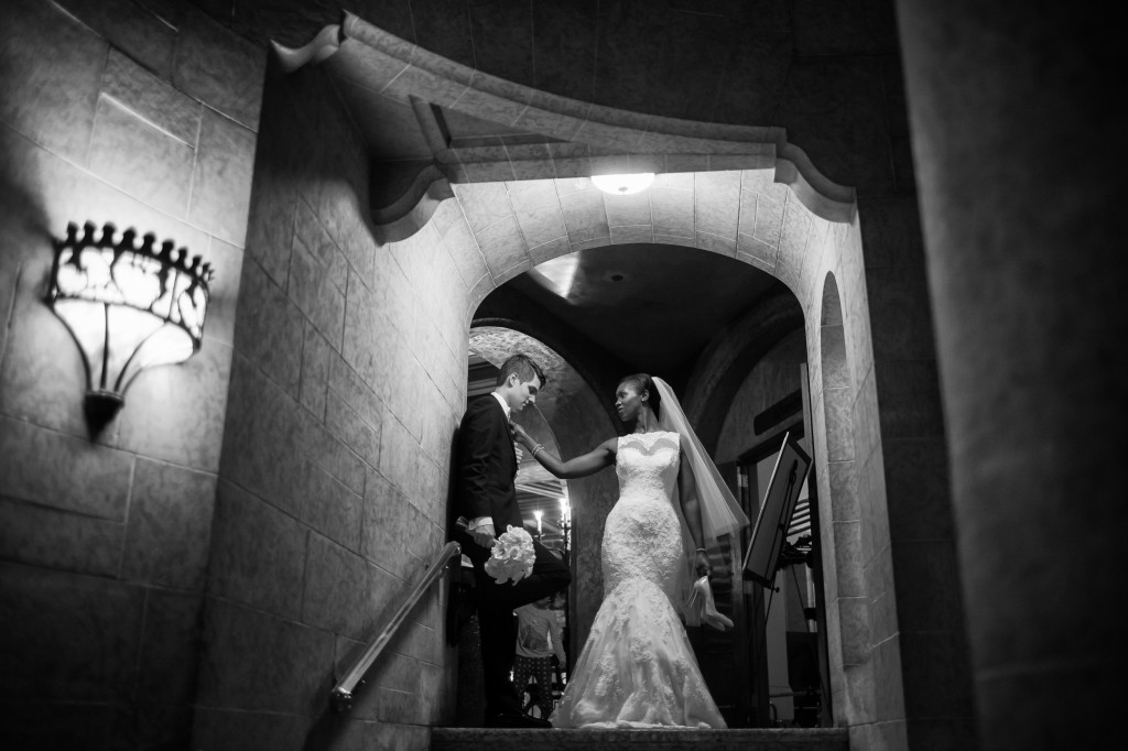 Black and White Dramatic Wedding Photos