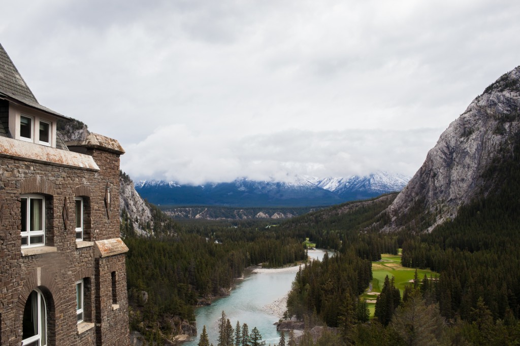 Photo of the view from Banff Springs Hotel