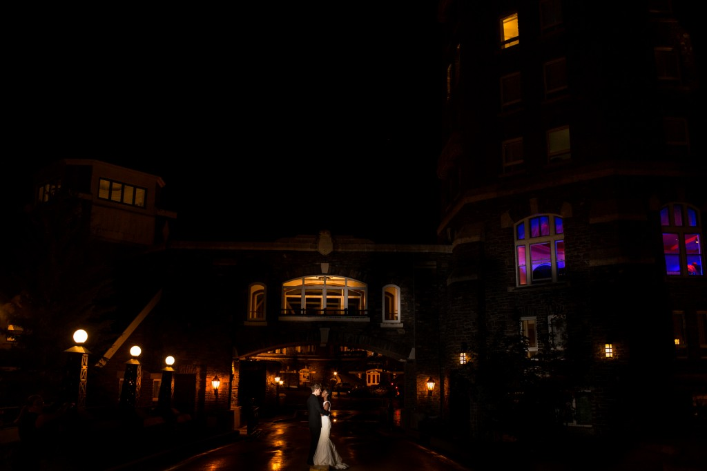 Wedding Portraits at Night