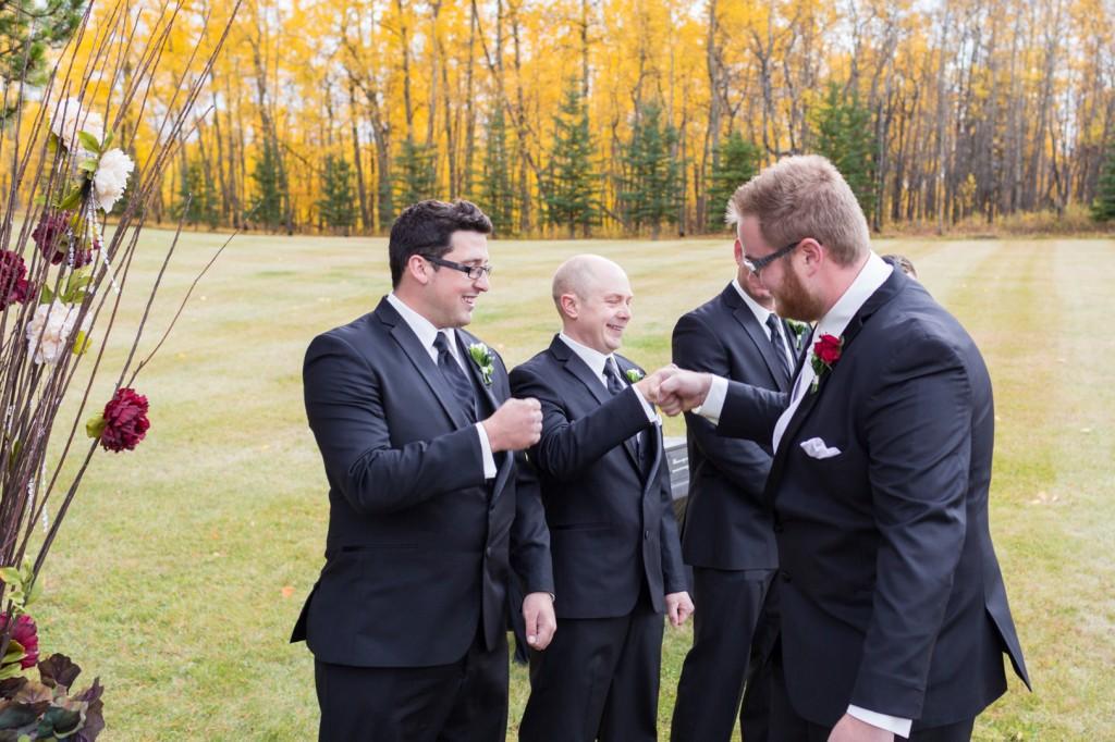 Fun Groomsmen Ceremony Photo