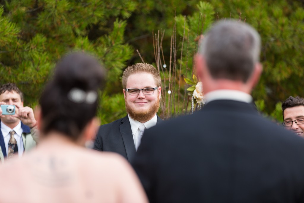 Outdoor Autumn Wedding Ceremony