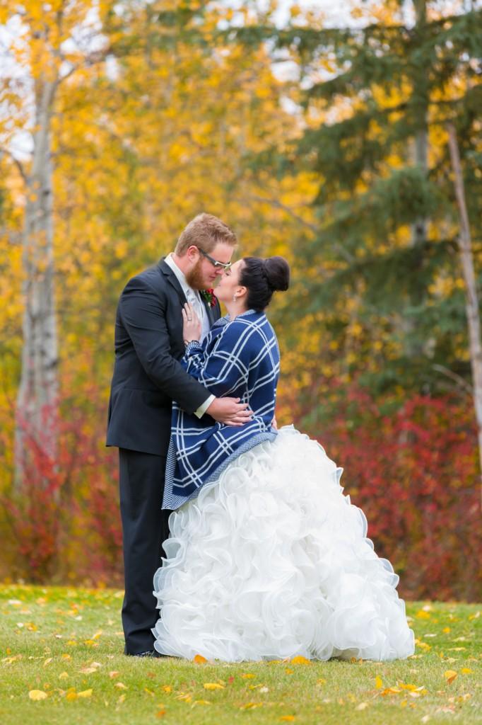 Country Wedding Portraits - outdoor autumn wedding