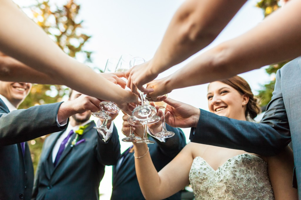 Bridal Party Champagne Toast