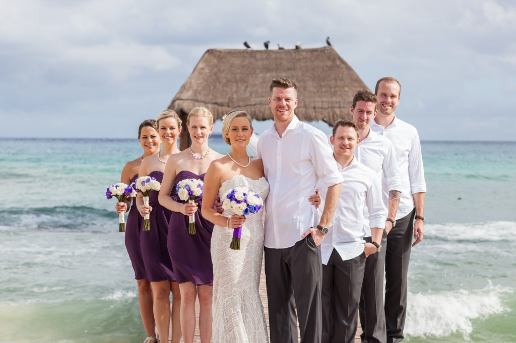 Photo of Wedding Party on the Beach