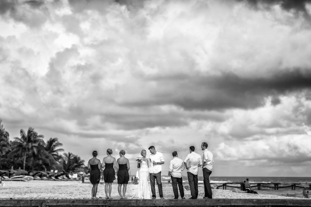 Photo of Wedding Party on Beach