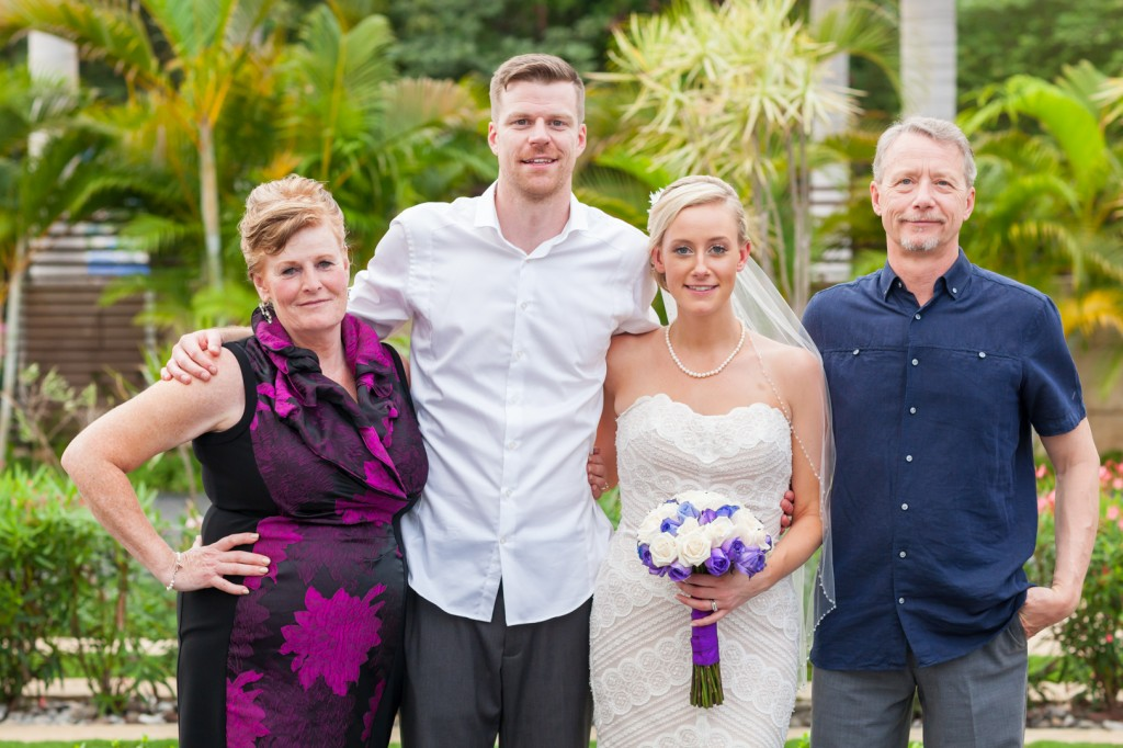 Destination Wedding Family Photo