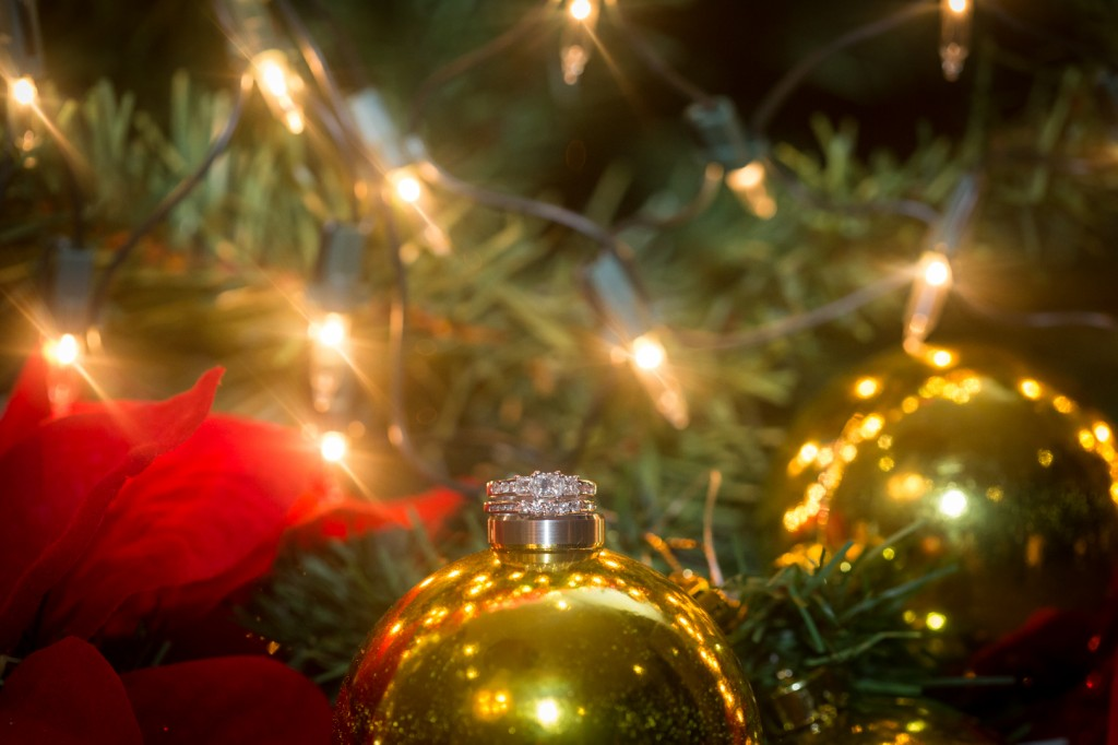 Christmas Wedding Ring Photo