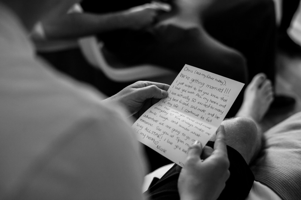 Brides Letter to Groom