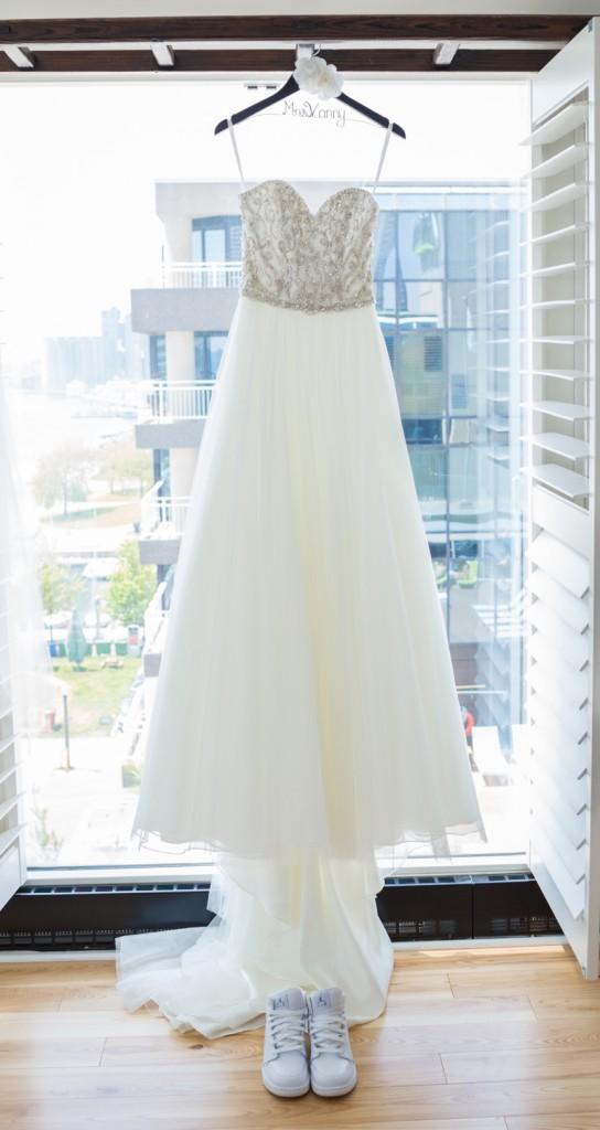 Wedding Dress with Jordans