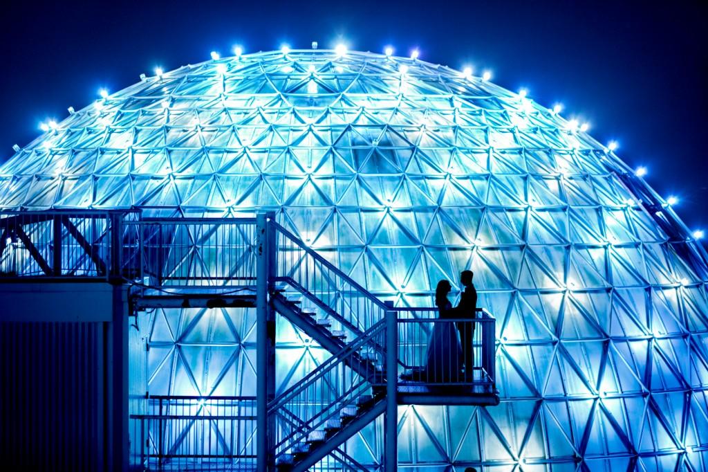 Night Photos From The Atlantis Pavilion Wedding In Toronto
