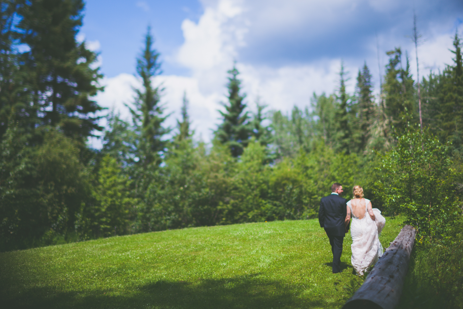 edmonton country wedding - outdoor ceremony