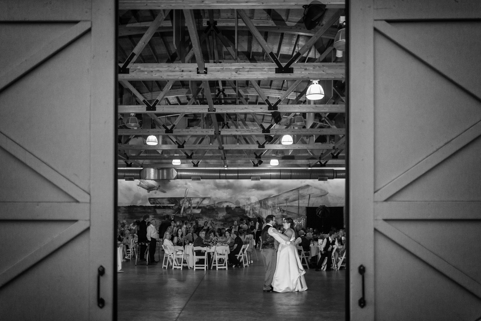 Blanchford Hangar Wedding Dance